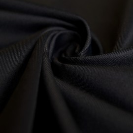 Star - Elastic Coolmax® Jersey Fabric - 4-Way Stretch / Technostretch - Black