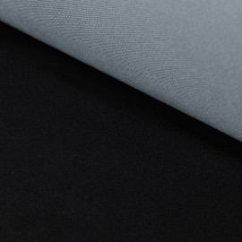 Edda - Fine Jersey Laminate - Black / Light Grey