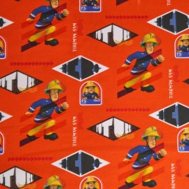 Fireman Sam Cotton Jersey Fabric