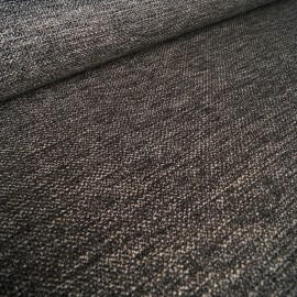 Janus - upholstery fabric - Black / White mottled