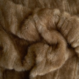 Brown Beaver - Faux Fur - Light Brown - Per 10 cm