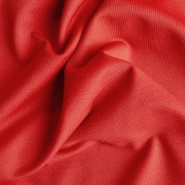 Red elastic jersey fabric