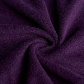 Nora - Fleece / Mesh fabric - Aubergine