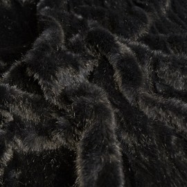 Black Beaver - Faux Fur - Black - Per 10 cm