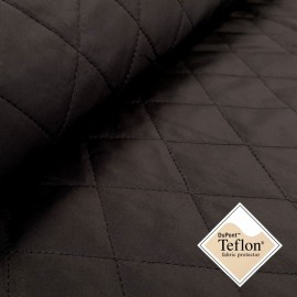 Quilted Fabric Ria - black