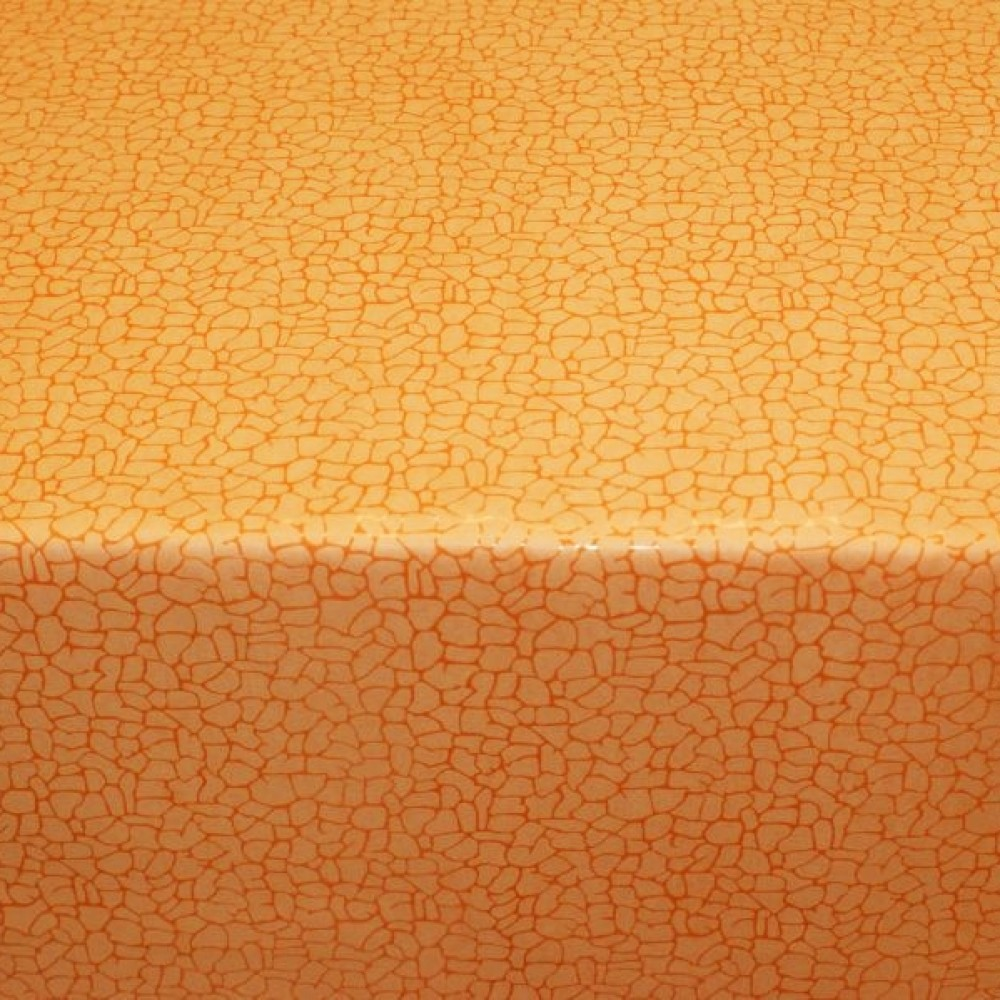 Microfiber wash leather - orange with reptile embossing