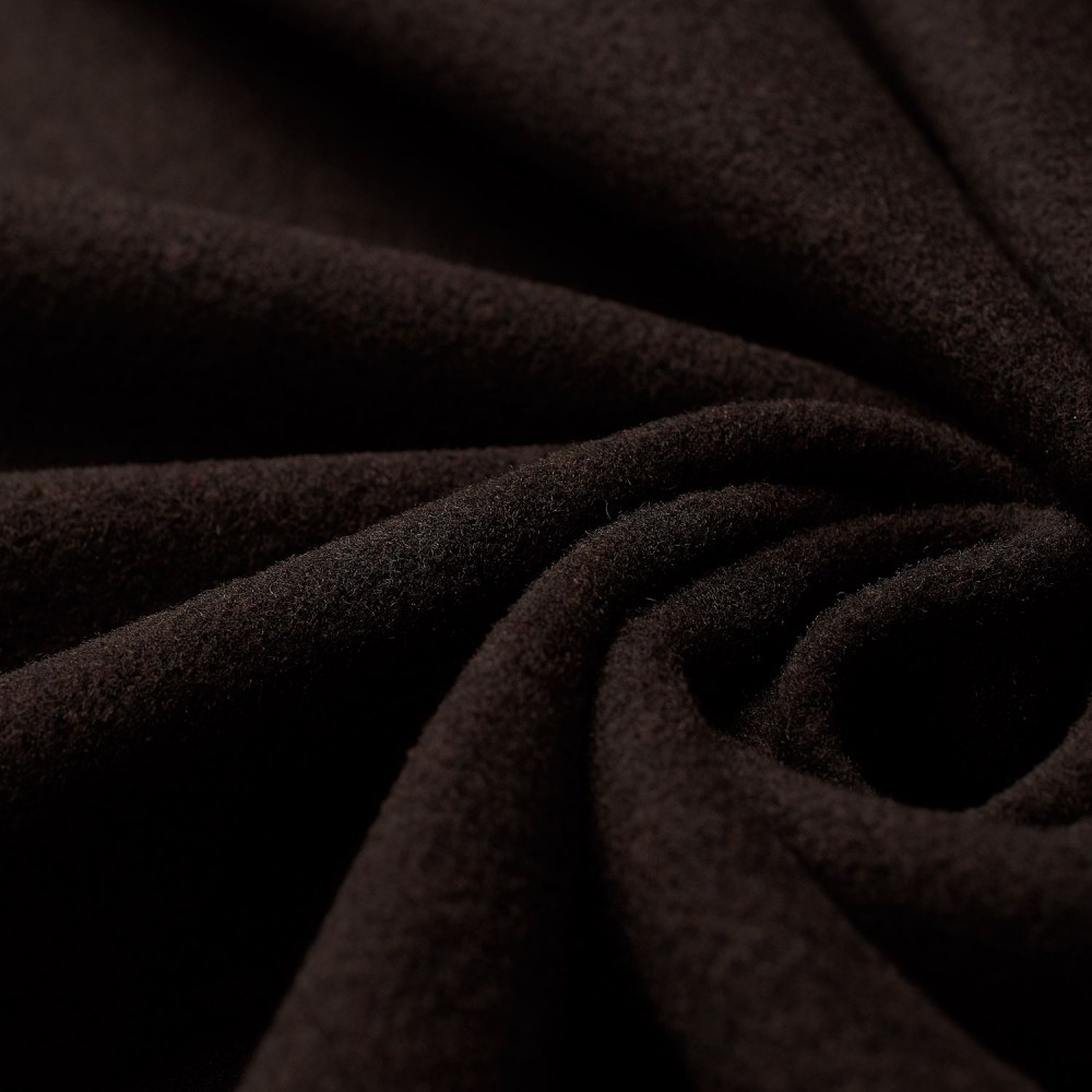 Nelly - wool velour - dark brown