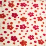 Antonia - cotton / wool plush fabric - floral pattern