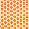 Retro dots - orange
